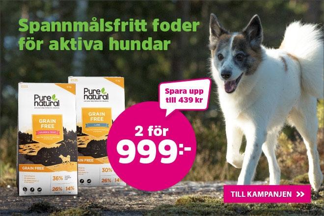 Purenatural Hundmat 12 kg Grain Free 2 för 999 kr