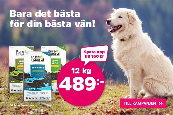 Purenatural hundmat 12 kg nu 489 kr