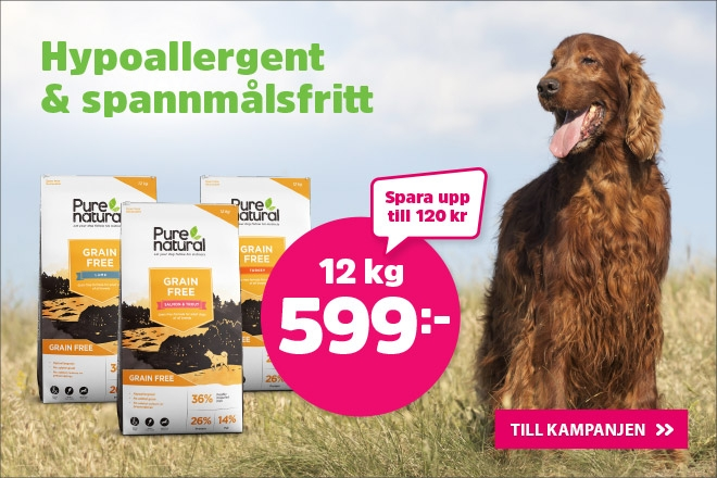 Supererbjudande - Purneatural Grain Free Hundmat 12 kg nu 599 kr