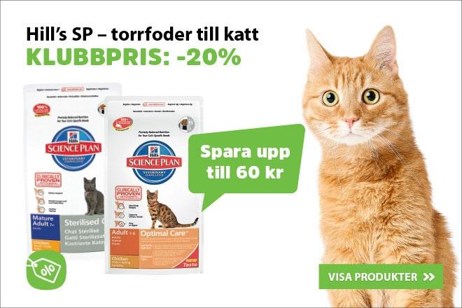 20% å Hills kattmat 1,5-2 kg