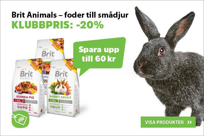 Klubbpris: 20% på Brit Animal smådjursfoder