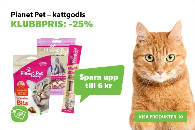 Klubbpris - 25% rabatt på Planet Pet Society kattgodis