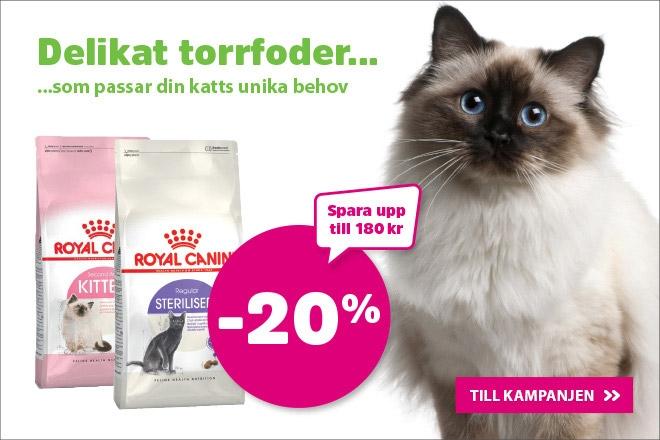 20% på Royal Canin Kattmat 10 kg