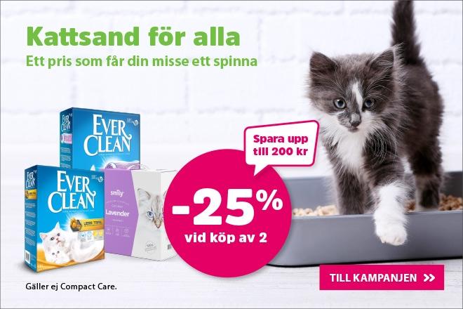 Köp 2 kattsand få 25% rabatt