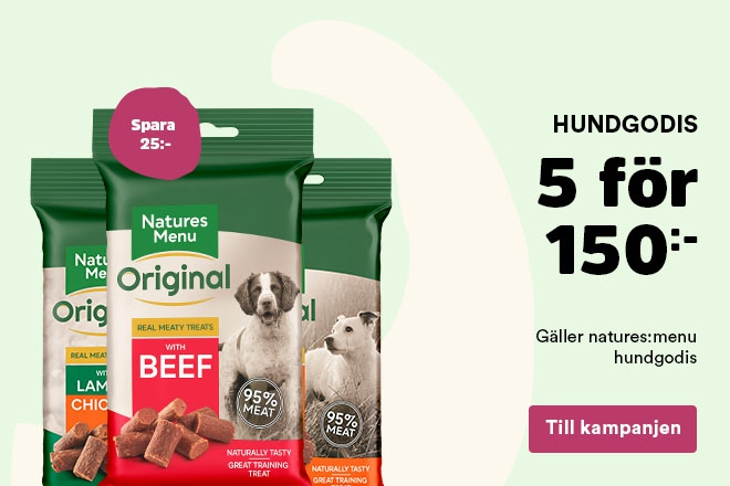 Mängdrabatt på natures:menu hundgodis