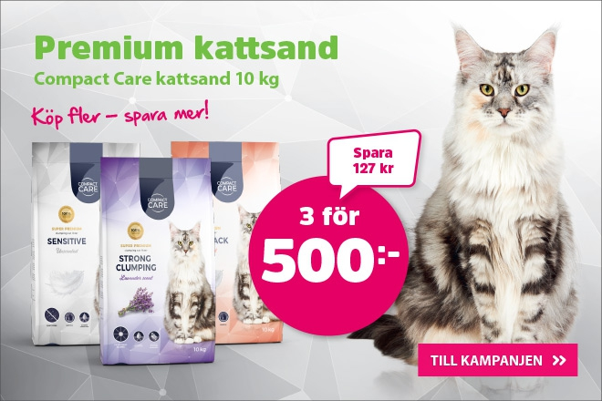 Compact Care Kattsand 10 kg 3 för 500 kr