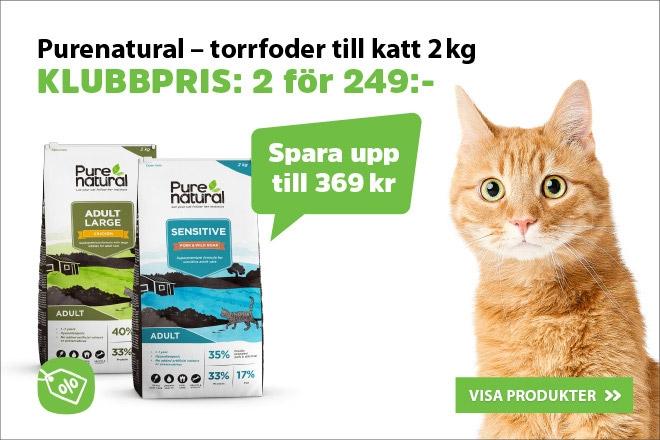 Klubbpris: Purenatural Kattmat 2 kg 2 för 249 kr
