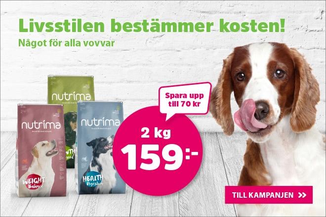 Supererbjudande - Nutrima hundmat 2 kg för 159 kr