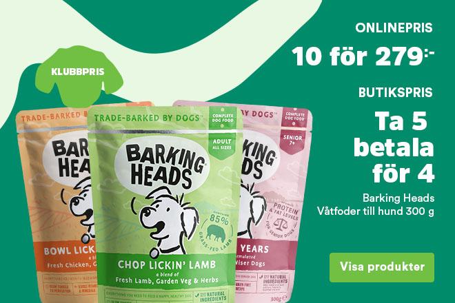 Klubbpris - Barking Heads våtfoder 10 för 279 kr