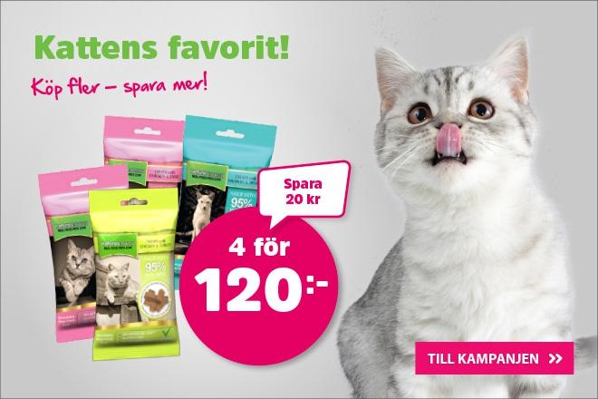 natures:menu kattgodis 4 för 120 kr