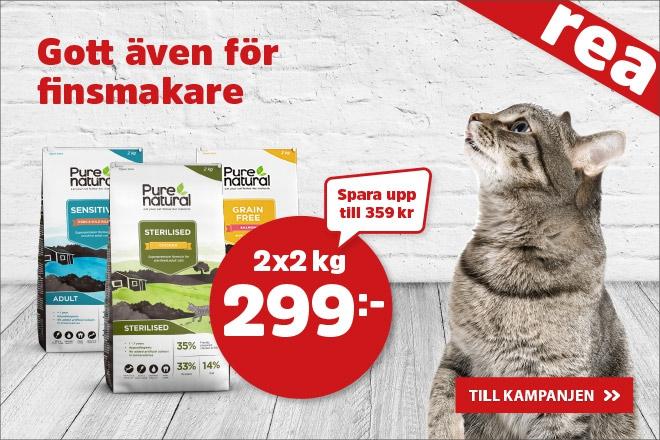 Purenatural Kattmat 2x2 kg för 299 kr