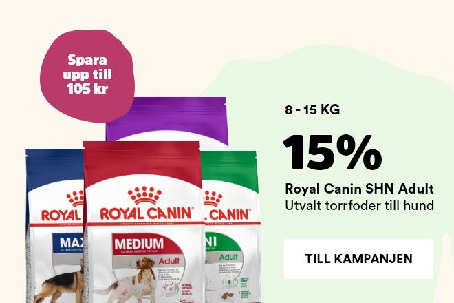 15% på Royal Canin torrfoder till hund 8 -15 kg