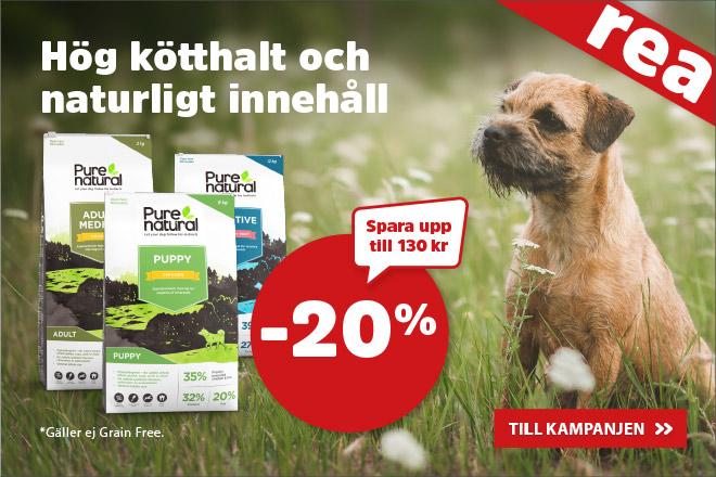 20% på Purenatural hundmat
