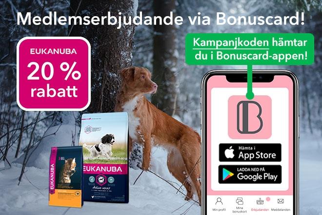 Erbjudande på Eukanuba med Bonuscard