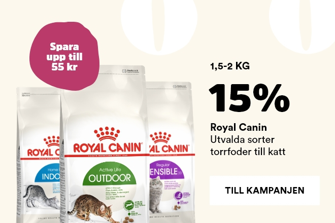 15% på royal canin kattmat