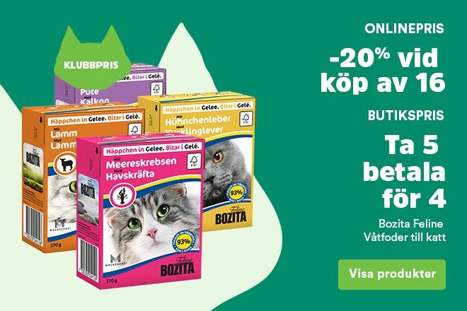 Klubbpris - Bozita Feline våtfoder 20% vid köp av 16 st