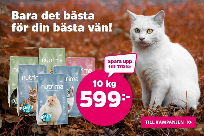 Nutrima kattmat 10 kg nu 599 kr