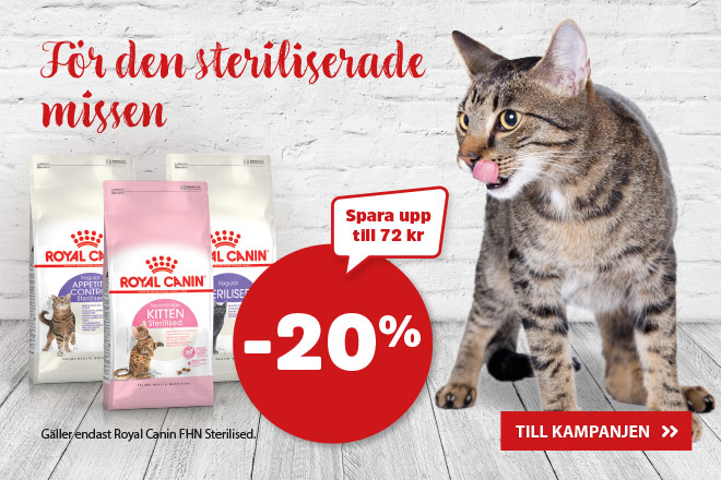 20% på Royal Canin Sterilised