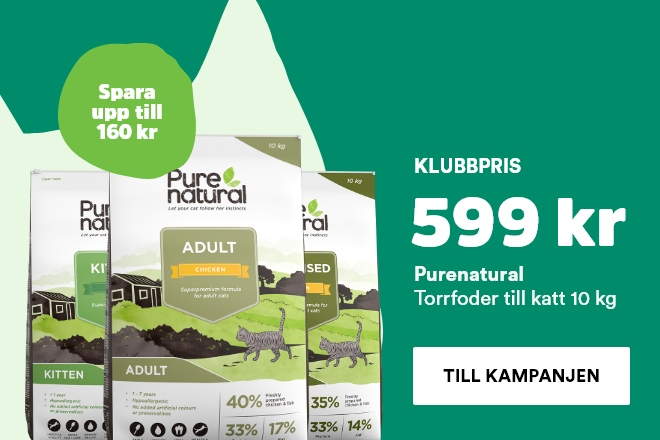 Purenatural kattmat 10 kg nu 599 kr