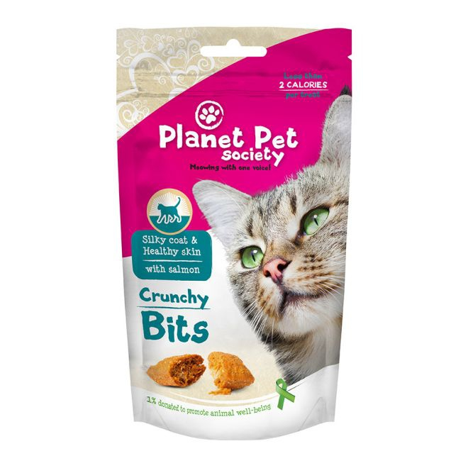 Planet Pet Society Crunchy Bits Skin and Coat 40 g (40 gram)