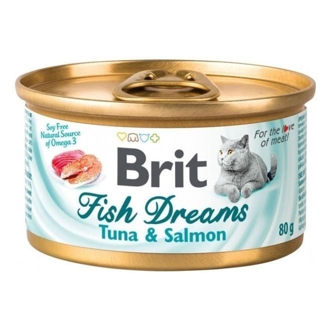 Brit Fish Dreams Tonfisk & Lax 80 g