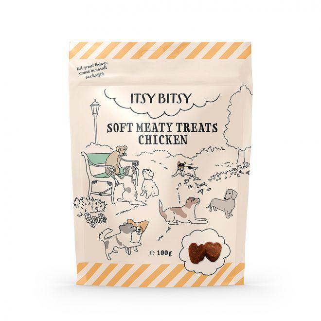 ItsyBitsy Dog Mjukt Kycklinggodis (100 gram)**