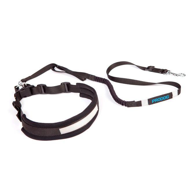 Pro Dog Joggingbälte med lina (Svart)**
