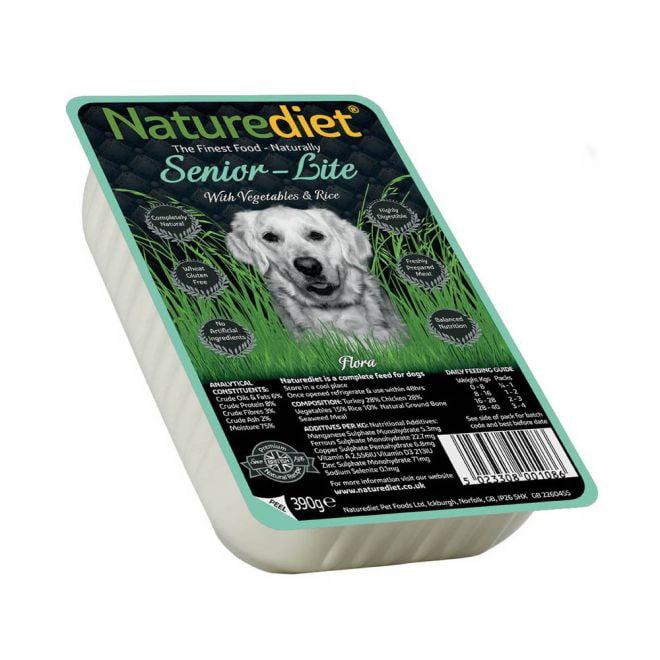 Naturediet Senior/Lite med Grönsaker & Ris (390 g)**