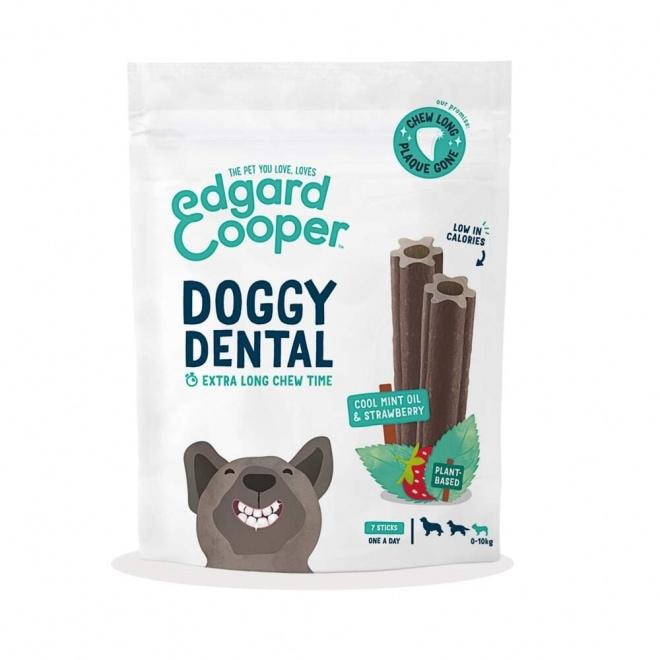 Edgard & Cooper Doggy Dental Tuggpinnar Jordgubbe & Mynta 7-pack (S)