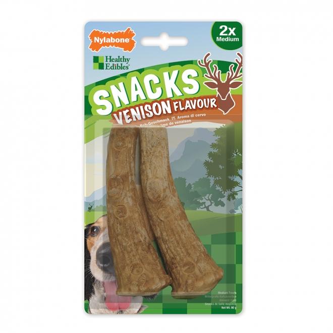 Nylabone Snacks Venison Medium (2 st)