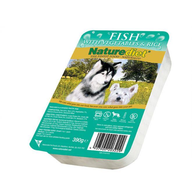 Naturediet Fisk med Grönsaker & Ris (390 g)