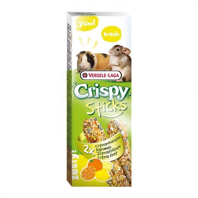 Versele-Laga Crispy Sticks Marsvin-Chinchillas Citrus Fruit 2-pack 110g (110 gram)**