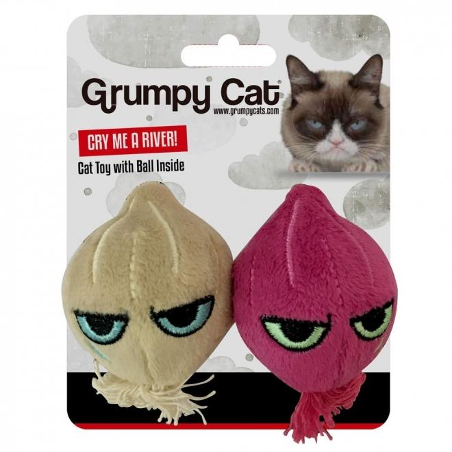 Grumpy Cat Onion Ball Kattleksak 2-pack