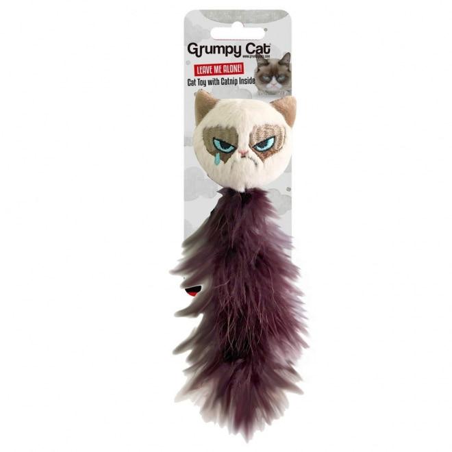 Grumpy Cat Feather Tail Kattleksak