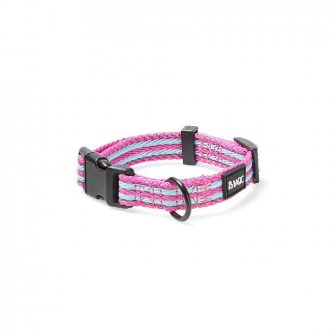 Basic Cosy Justerbart Halsband Turkos/Rosa