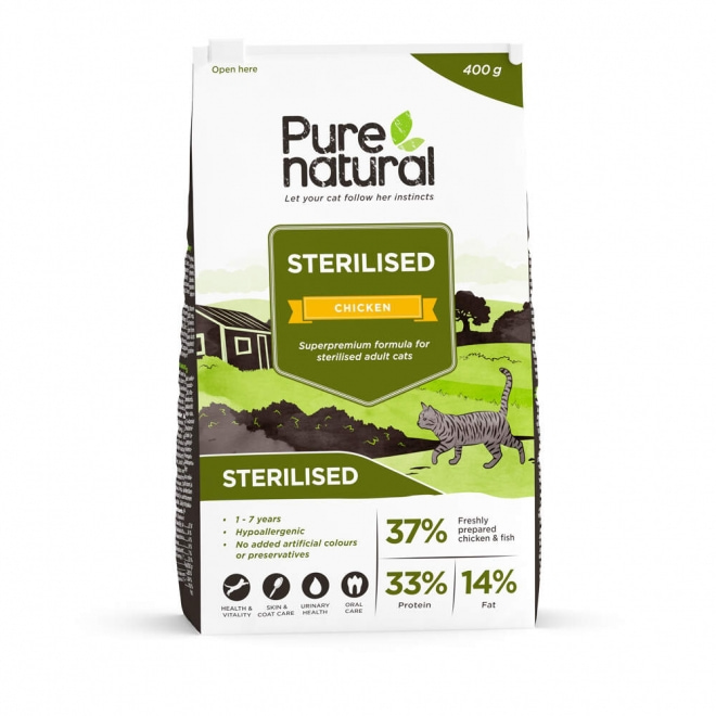 Purenatural Cat Adult Sterilised Chicken (400 g)