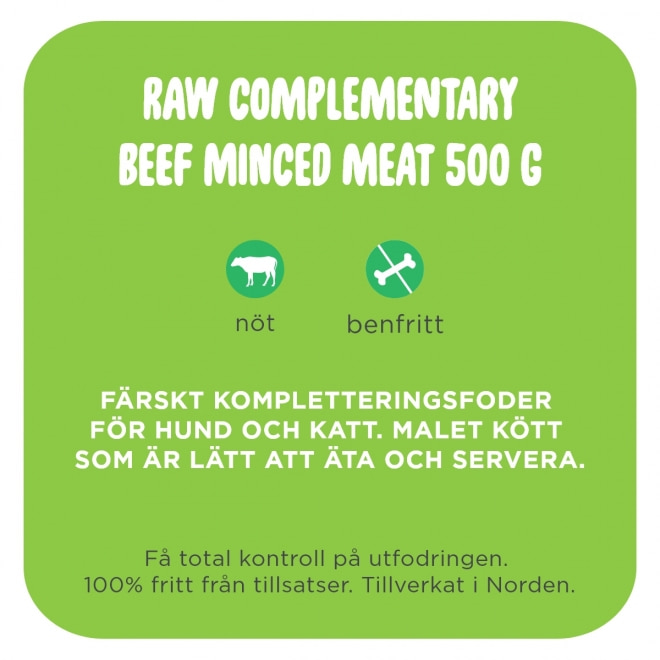 Smaak Raw Complementary Beef Minced Meat 500 g