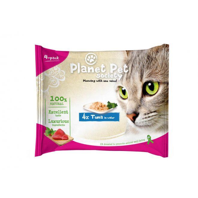 Planet Pet Society Tonfisk i vatten (4x50 g)