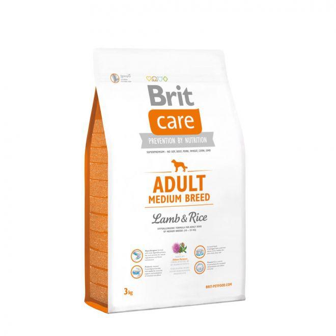 Brit Care Adult Medium Breed Lamb & Rice**