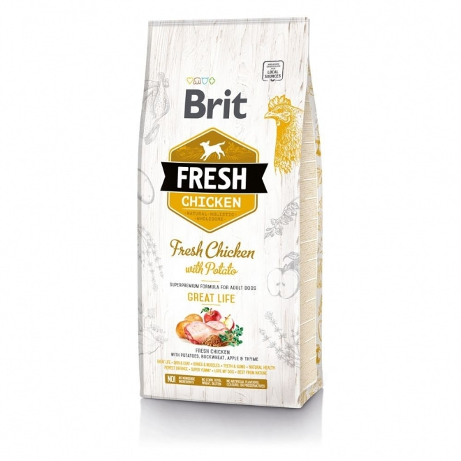 Brit Fresh Chicken with Potato Adult Great Life (12 kg)