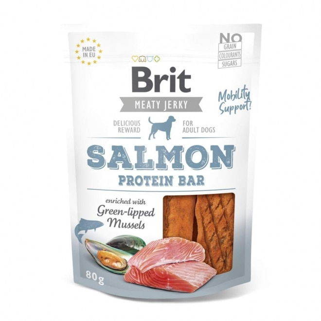 Brit Care Meaty Jerky Proteinbar Salmon 80 g