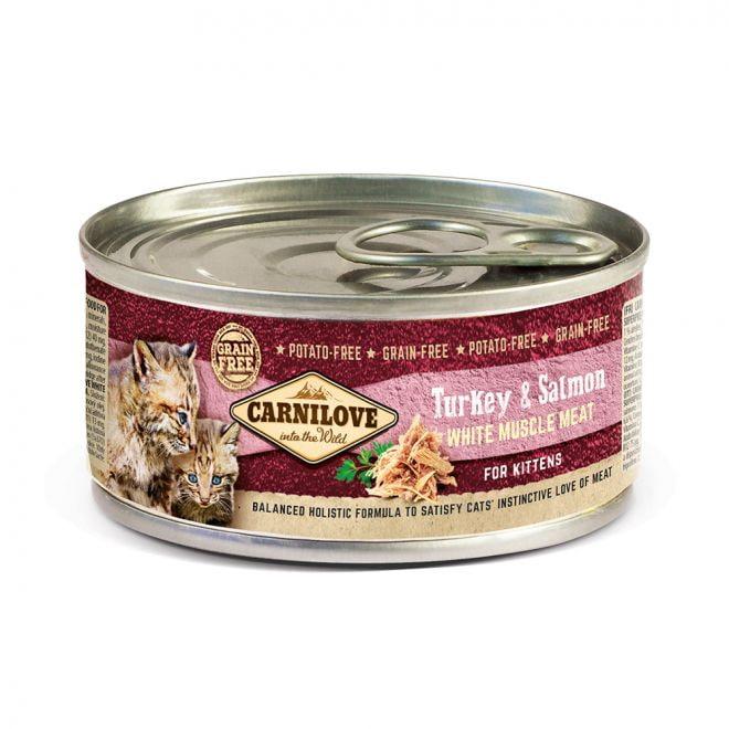 Carnilove Kitten Kalkon & Lax (100 gram)**