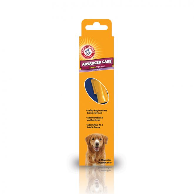 Arm & Hammer Fingertandborste 2-pack (S)**