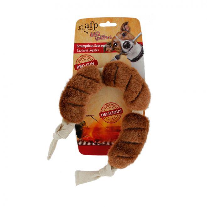 All For Paws Hundleksak BBQ Sausage L (48 cm)**
