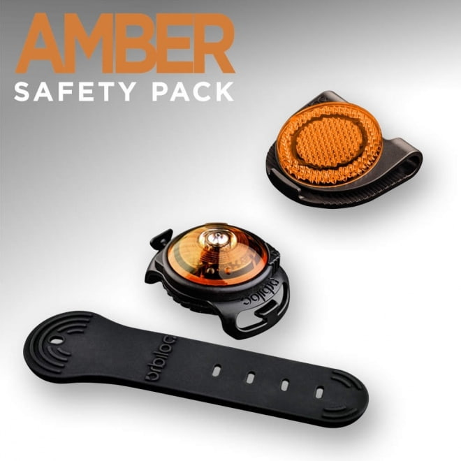 Orbiloc Amber Safety Pack, light + reflective clip