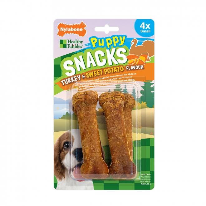 Nylabone Snacks Puppy Sweet Potato & Turkey Small (4-pack)