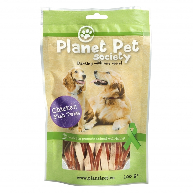 Planet Pet Society Twist Chicken & Fish 100 g