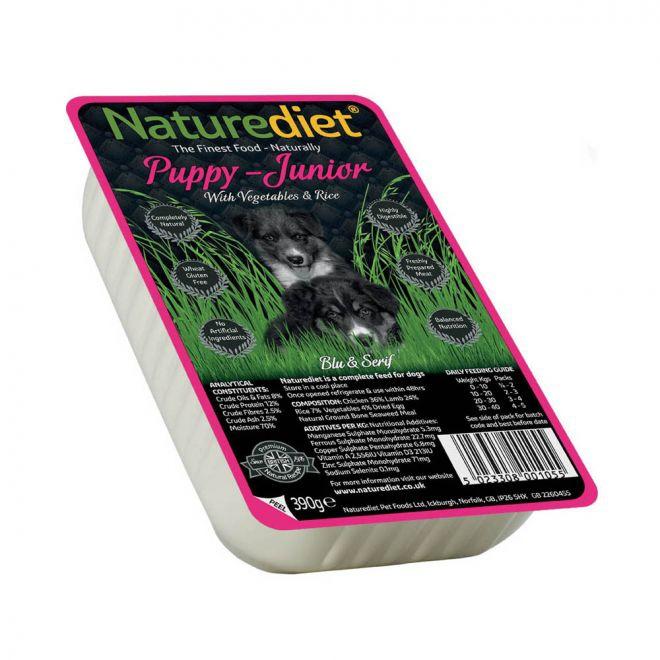 Naturediet Puppy/Junior med Grönsaker & Ris (390 g)