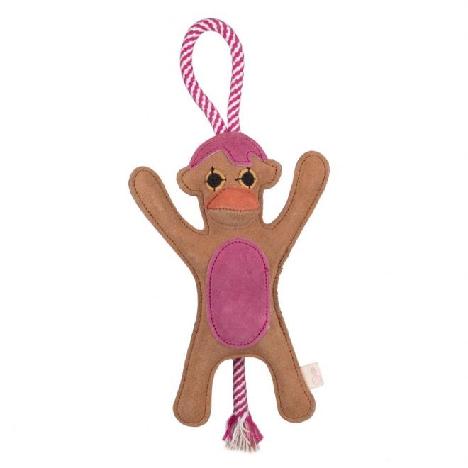 Gaia Suede Apa brun/rosa med handtag