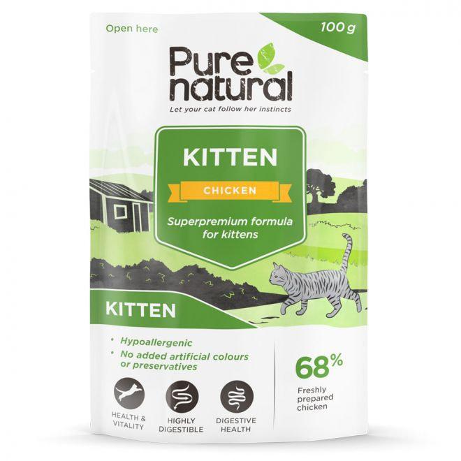 Purenatural Kitten Chicken with Rice 100 g (100 gram)